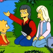 "THE SIMPSONS: Lisa and guest stars Paul and Linda McCartney in the ""Lisa The Vegetarian"" episode of THE SIMPSONS on FOX.  ™©1995THE SIMPSONS & TCFFC ALL RIGHTS RESERVED.  ©1995FOX BROADCASTING CR:FOX"